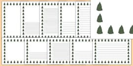 Fir Tree Themed Page Borders