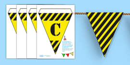 Construction Area Display Bunting