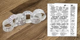 Christmas Mindfulness Colouring Paper Chain