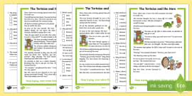 The Tortoise and the Hare Differentiated Reading Comprehension Activity