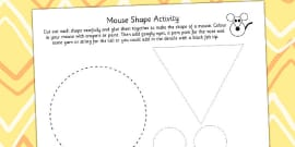 Paper Mouse Shapes Activity