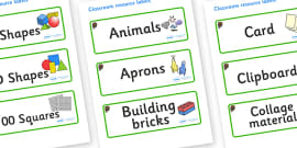 Beaver Themed Editable Classroom Resource Labels