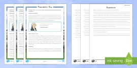 Presidents' Day Differentiated Reading Comprehension Activity