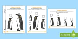 Penguin Measuring in Centimetres Differentiated Activity Sheets