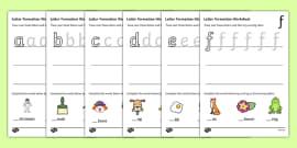 Letter Formation Worksheets (a-z)