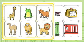 Matching Activity to Support Teaching on Dear Zoo