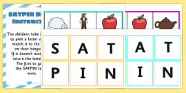 Picture Bingo Match with Beginning Sounds SATPIN