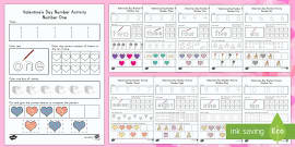 Valentine's Day Math Numbers 1-10  Resource Pack