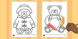 Teddy Bear Outline Sheets