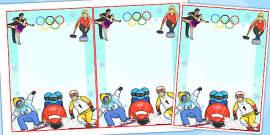 Winter Olympics Editable Notes