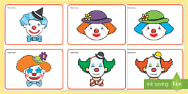 Clown Faces Sorting Activity