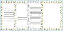 Light Bulb Page Borders