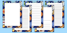 Space Decorative Page Border