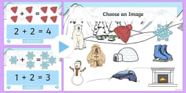 Winter Themed Addition PowerPoint