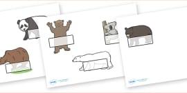 Editable Self Registration Labels (Bears)