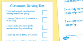 Classroom Driving Test