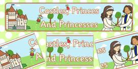 'Castles, Princes and Princesses' Display Banner