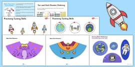 Space Themed Scissor Skills Pack