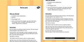 KS1 Science Senses Touch Box Game Instructions
