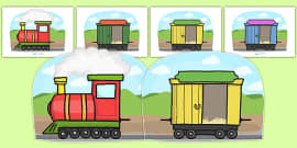 Fully Editable Train and Carriages