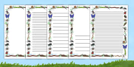 Minibeasts Page Borders (Detailed Version)