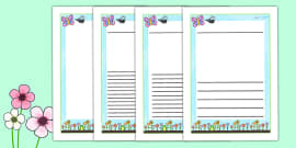 Spring Themed Writing Frames