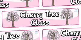 Cherry Tree Themed Classroom Display Banner