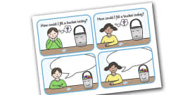 How Could I Fill a Bucket Today Cards (Editable)