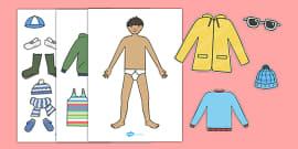 Seasonal Clothing Dressing Up Activity (Boys)
