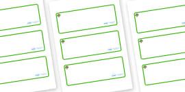 Oak Tree Themed Editable Drawer-Peg-Name Labels (Blank)