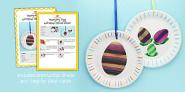 Egg Window Decoration Craft Instructions