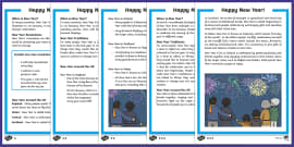 KS1 New Year Differentiated Reading Comprehension Activity