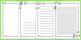 St Patrick's Day Page Borders