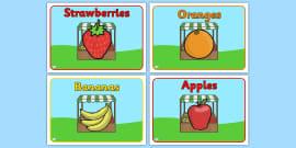 Editable Class Group Signs (Fruit)