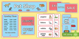 Pet Shop Role Play Pack