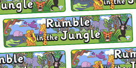 Display Banner to Support Teaching on Rumble in the Jungle