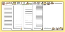 Houses and Homes Page Borders
