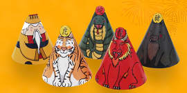 Chinese New Year Cone Characters