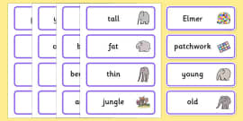 Word Cards to Support Teaching on Elmer