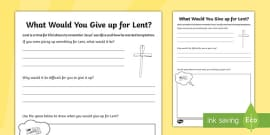 Lent Activity Sheet