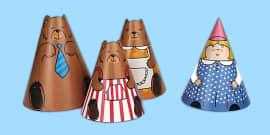 Goldilocks and the Three Bears Cone Characters