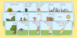 Outdoor Area Word Posters