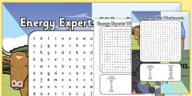 Energy Experts Wordsearch