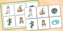 Matching Cards and Board to Support Teaching on Where the Wild Things Are