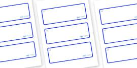 Polar Bear Themed Editable Drawer-Peg-Name Labels (Blank)
