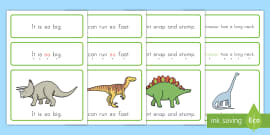 * NEW * Dinosaur Simple Sentence Cards - USA