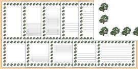 Cedar Tree Themed Page Borders