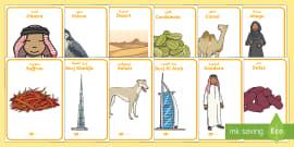 UAE National Day (2nd December) Key Word Display Posters Arabic/English