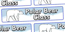 Polar Bear Themed Classroom Display Banner