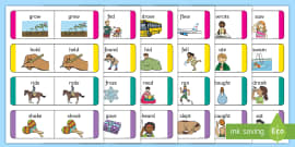 Present and Past Tense Verb Cards